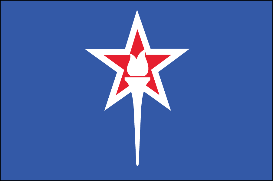 INDIANA: I simplified the existing Indiana flag by removing everything but the torch of liberty. I adjusted the colors to make them cohesive with the new scheme. The star represents the state itself.