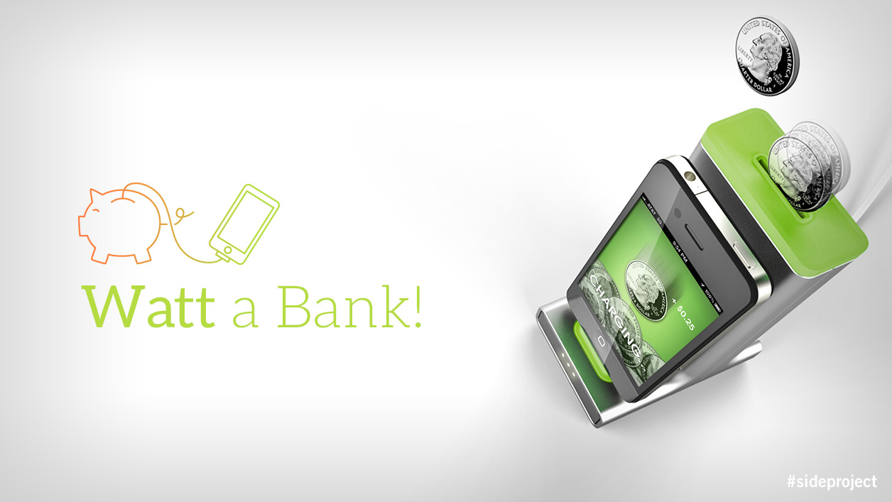 Watt Bank is a charging dock that teaches kids about the cost of energy.