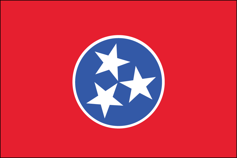 TENNESSEE: This is almost identical to the actual state flag.