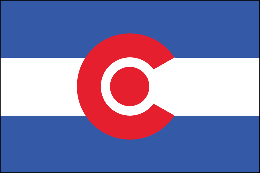 COLORADO: This state's flag is iconic so I didn't change much, just the colors.