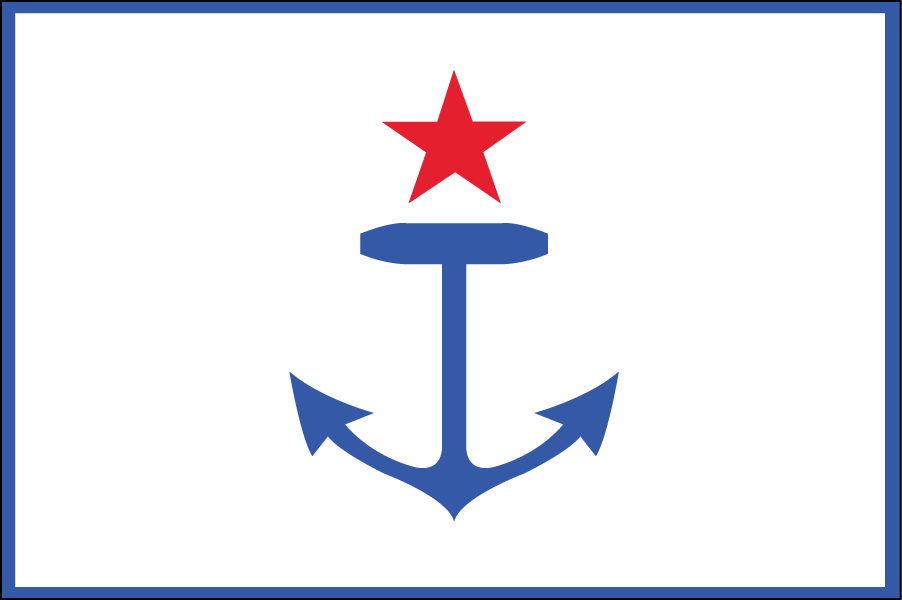 RHODE ISLAND: I kept the design close to the original flag but simplified it and stripped away all the stars but one to represent the state itself.