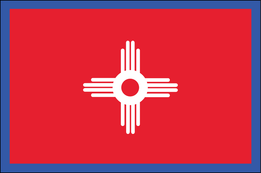 NEW MEXICO: The existing flag's design is iconic and is one of the best liked state flags so I didn't change much, just the color.