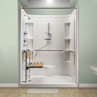 Jacuzzi hydrotherapy shower bresslergroup for Walk in shower plans and specs
