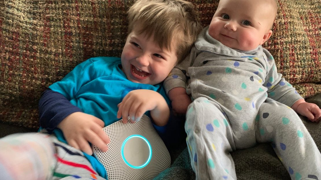 Adorable kids with Nest Protect