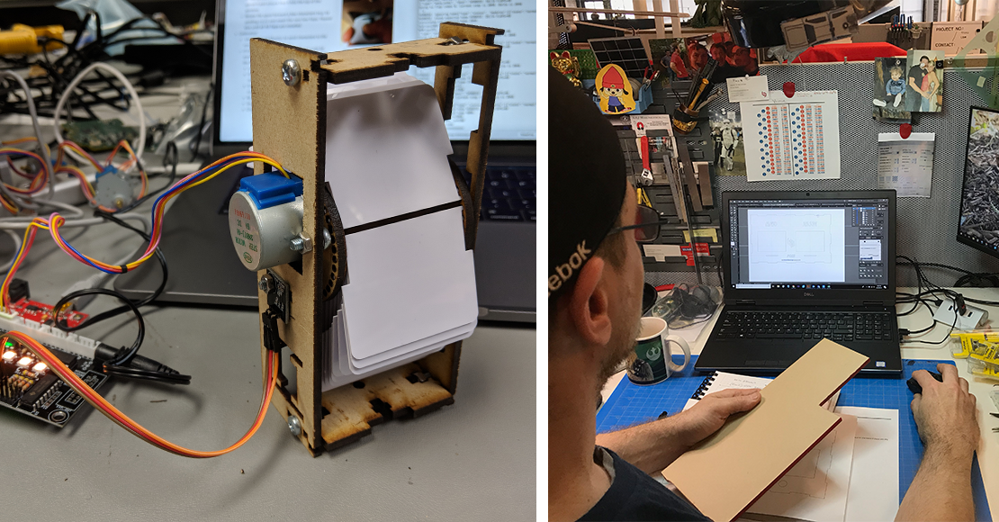 We used the open-source model to control the rotation of the flaps in our split-flap display.