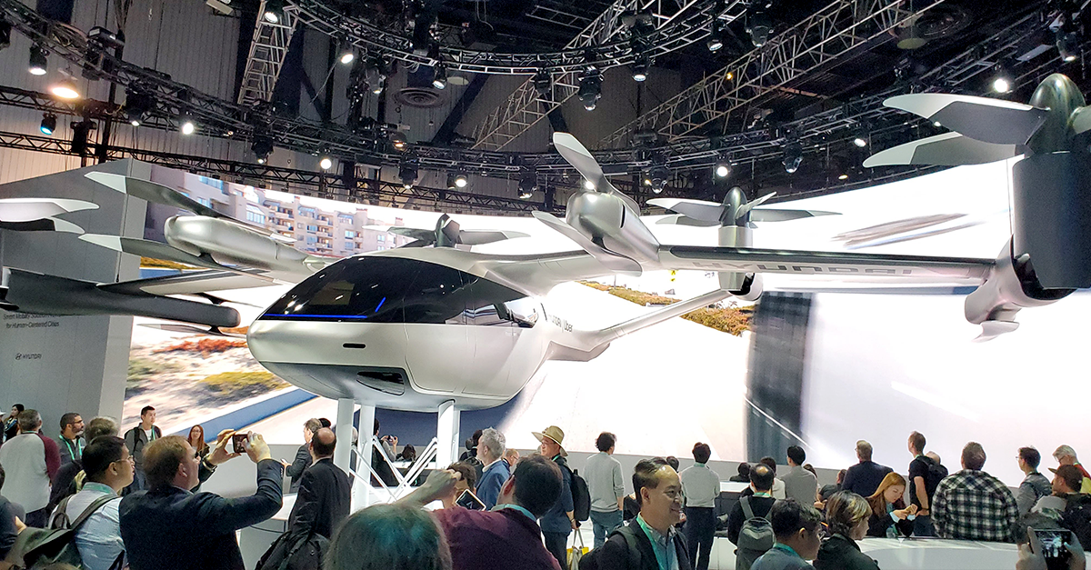 The S-A1 Urban Air Taxi is a partnership between Hyundai and Uber.